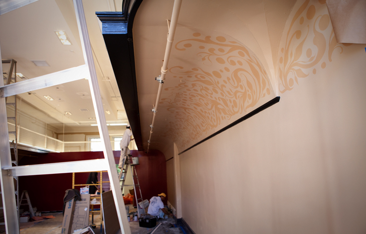 Gaslamp wall detail